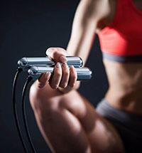 exercice avec corde à sauter